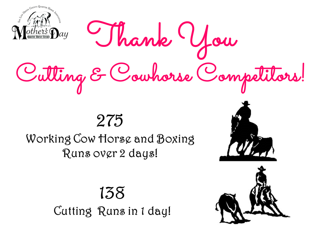 SLOCQHA Mothers Day Circuit, Reined Cowhorse, Working Cow Horse, Boxing, Cutting, AQHA